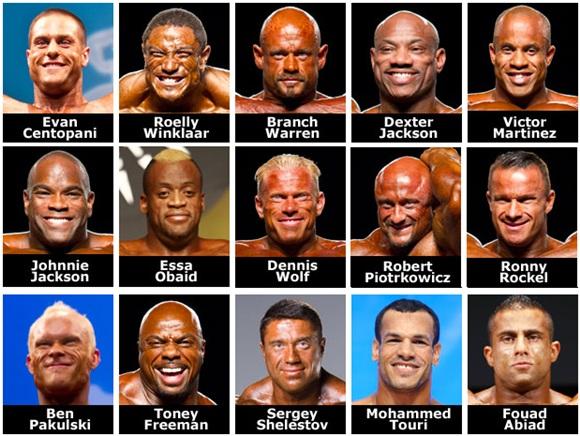Competidores del 2011 - Arnold Classic